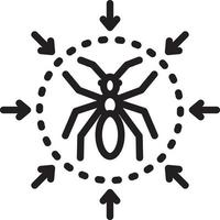 Line icon for pest control vector