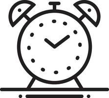 icono de línea para reloj despertador vector