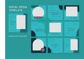 Template Feed Instagram Puzzle Fashion Women vector
