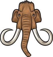 Mammoth head vector illustration