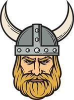 viking head in color vector