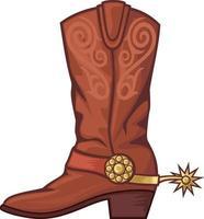 cowboy boot in color vector