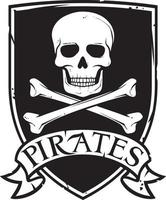 símbolo o emblema de piratas vector