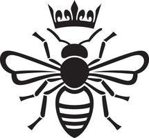 abeja reina con corona vector