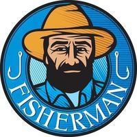 color fisherman symbol vector