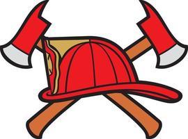 departamento de bomberos o bomberos vector