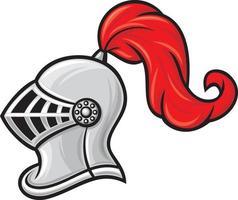 casco de caballero medieval vector