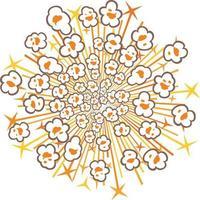 popcorn explosion illustration vector