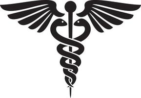 caduceus - medical symbol vector
