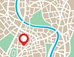 mapa abstracto de la ciudad vector