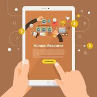 solución de negocios en línea vector