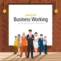 businessman stand in company vector