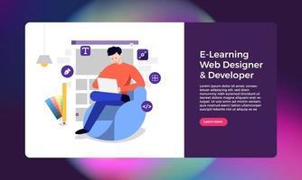 diseñador y desarrollador web vector
