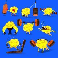 illustrate concept stronger brains fitness vector