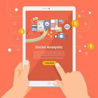 solución de negocios en línea análisis social vector