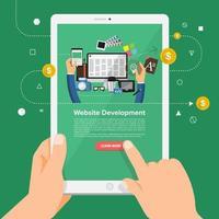 diseñador web solución empresarial online vector