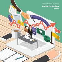 curso online financiero vector