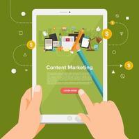 solución empresarial online marketing de contenidos vector