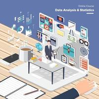online course data analyze vector