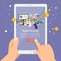 online course media strategy vector