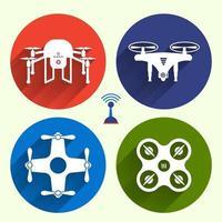Icon set Drones vector
