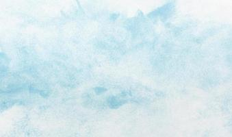 Painted blue watercolor background photo