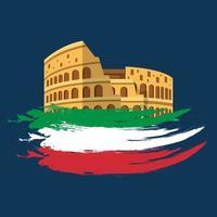 Vector illustration of Festa della Repubblica Italiana with Colosseum