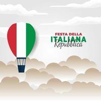 cartel del día de la república de italia vector
