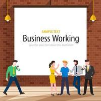 gente trabajadora de negocios vector