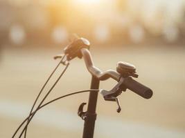 Electric bicycle handlebars photo