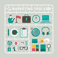 marketing tool kite illustrations vector