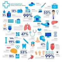 infographic health and medical concept vector