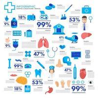 infografía salud y concepto médico vector