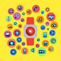 vector illustrations smartwatch