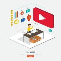 ilustraciones de video viral vector