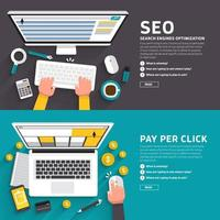 digital marketing illustrations SEO PPC vector