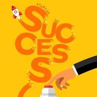 Illustrations startup success vector