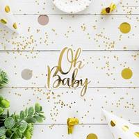 Baby shower gold card template photo