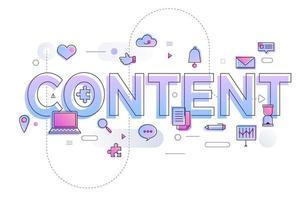 contenido de la palabra comercial vector
