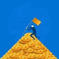 Crypto Currency Illustrations vector