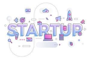inicio de palabra empresarial vector