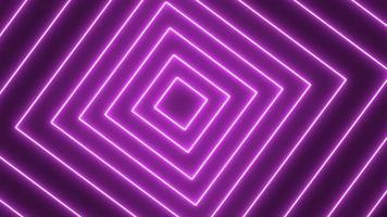 quadrados giratórios de néon