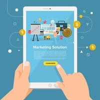 Online Business Solution vector