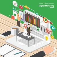digital marketing illustrations vector