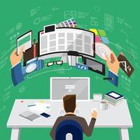 digital marketing illustration vector