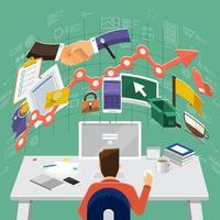 ilustraciones de marketing digital vector