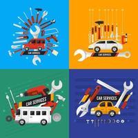 Car service illustrations vector