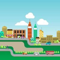 city landscape illustrate vector