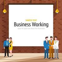 hombre de negocios trabajando oficina vector