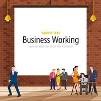 oficina de trabajo de negocios vector